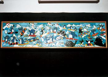 昭和51年生まれの某小学校1年生の児童と父母による学級活動作品
